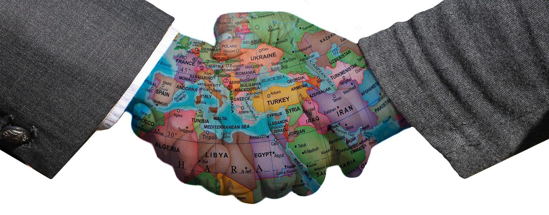 Handshake verhandlungen mit Peren & Partner