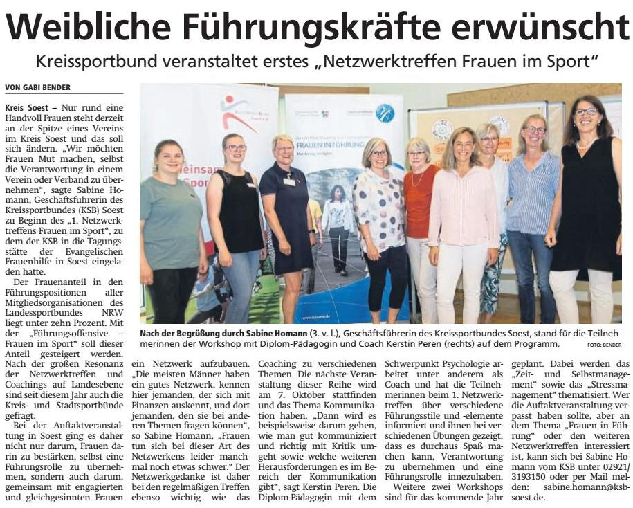 Peren und Partner, Zeitungsartikel Peren und Partner, Kerstin Peren Zeitung